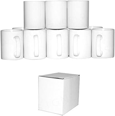 Signzworld 11 oz Large Double Layer Coated Sublimation Mug Heat Press - White (Pack of 36): Amazon.co.uk: Office Products