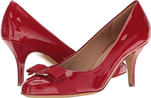 (SALVATORE FERRAGAMO Women's Carla 70, Rosso Patent 7.5 B)