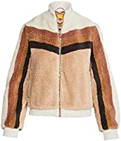 MOTHER Women's Striped Letterman Zip Jacket