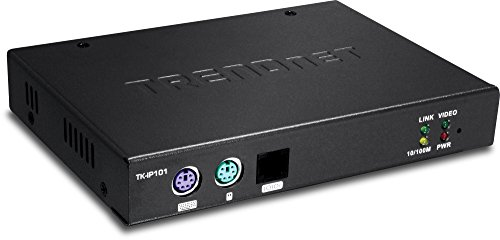 TRENDnet 1-Port KVM Switch Over IP, Centralized Management, 1600x1200 Resolution, Ethernet RJ-45, Serial PPP, Windows, KVM Switches, BIOS, GUI, TK-IP101 ()