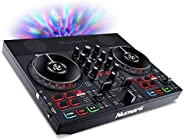 Numark Party Mix II - DJ Controller/DJ Set for Beginners with Built-In DJ Lights & DJ Mixer for Serato DJ