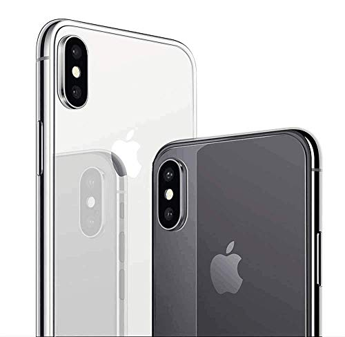 (2 Pack) SHARKSBox iPhone Xs/X Back Screen Protector for Apple iPhone Xs/iPhone X[Case Friendly][Anti-Bubble] Back Glass Screen Protector Film Compatible iPhone Xs/X 5.8 inch