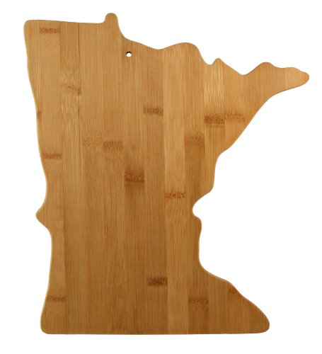 Totally Bamboo State Cutting & Serving Board, Minnesota, Made From 100% Organic Bamboo; Extremely Strong & Durable; Multi Functional Bamboo Cutting board for Cooking, Entertaining, Decor and More