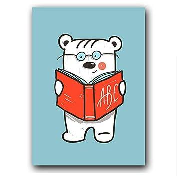 Lindo Oso de Dibujos Animados Libro de Lectura Ciclismo ...