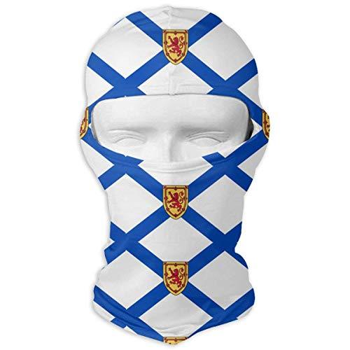 (LGOPT Nova Scotia Canada Flag Outdoor Cycling Mask Sunscreen Balaclava Hat Dustproof Anti Snow Haze Windproof Mask)