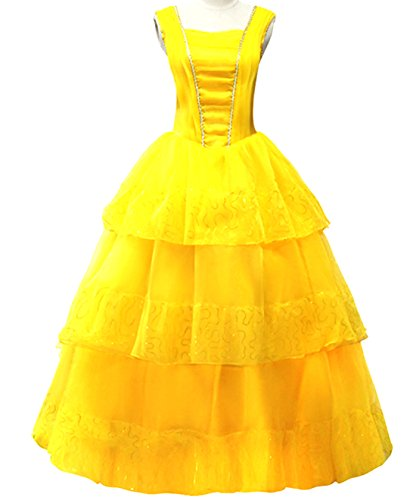 Annymall Women's Dress for Halloween Cosplay , Beauty and the Beast Princess Belle , Christmas Queen Cosplay Party Fancy Ball (The Beast X Men Costume)