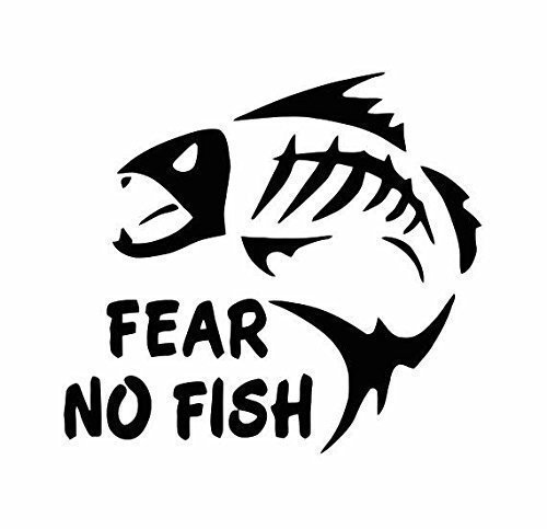 Fear No Fish Decal (10 Sizes and 20 Colors) 084