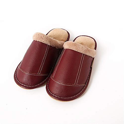 Slippers Mens Skid Home Burgundy Shoes Womens with House Anti Durio Comfort Foam Ultra Slippers Memory Sole Non Slip qUngYAd