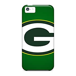 Anti-Scratch Hard Cell-phone Cases For Iphone 5c With Unique Design Realistic Green Bay Packers Skin DannyLCHEUNG