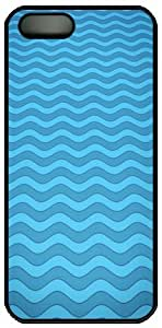 Apple iPhone 5 5S Case, iPhone 5 5S Cases Hard Shell Black Cover Skin Cases patterns wave