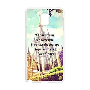 Samsung Galaxy Note 4 Cell Phone Case White Disney castle Rwtfg