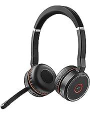 Jabra Evolve 75 UC Duo professionele Bluetooth-headset met ANC, incl. Link 370, Zwart