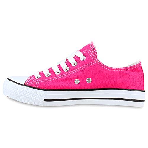 Stiefelparadies Low Pink Sneaker Herren Damen Flandell Unisex Übergrößen rwpaxr