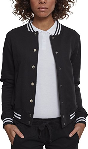 Blk College Sportiva Blk Classic Urban Ladies Giacca Jacket Sweat Donna Schwarz 00017 YWvEaUqwa