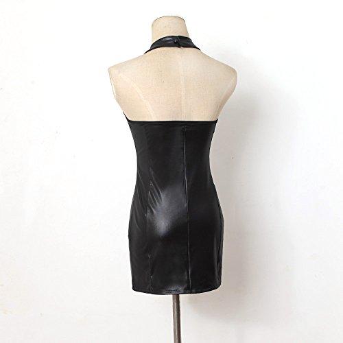 Robe de danse,LHWY Femmes Sexy cuir verni robe de danse de Performance