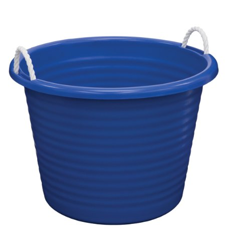 United Solutions TU0085 Seventeen Gallon Rope Handled Big Blue Tub-17 Gallon/64.3L Rough and Rugged Tub Featuring Rope Handles in Blue