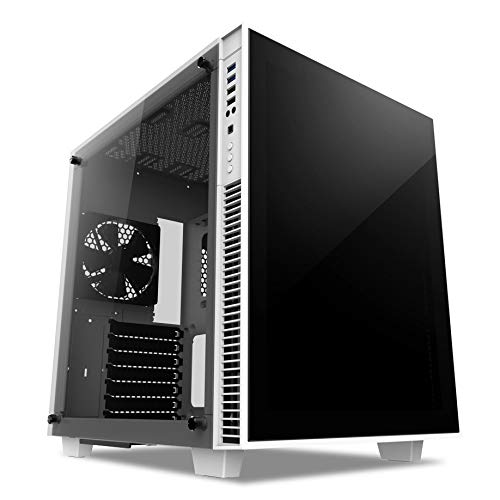 anidees AI Crystal Cube V2 Dual Chamber Tempered Glass EATX/ATX PC Gaming Case Lite Version - White AI-CL-Cube-W-Lite2