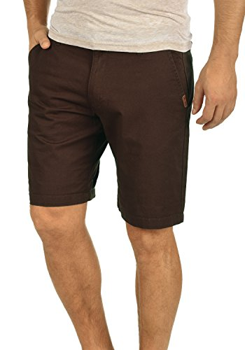 Bermuda Court solid 100 Regular Short Bean 5973 Pour Coffee Coton Homme Chino Coupe Thement Pantalon UrXX8wxtq