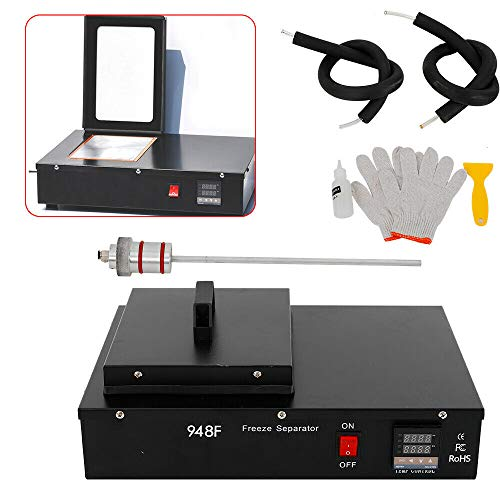 Screen Separator Machine, KPfaster 30W Nitrogen Frozen LCD Separator Freezing Machine Black Repair Phone Screen US