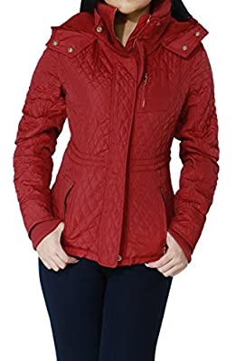 Zip-up Closure Quilted Light-weight Fashion Jacket Outerwear for Women