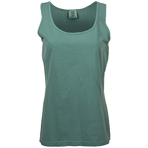 (Comfort Colors Women's Ultra Soft Cotton Tank Top, Style 3060L, Seafoam, X-Small)