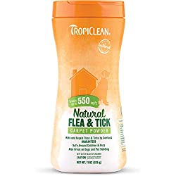 TropiClean Natural Flea & Tick Carpet Powder (2 Pack (11oz Each))