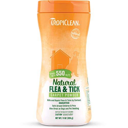 TropiClean Natural Flea & Tick Carpet Powder (2 Pack (11oz Each))