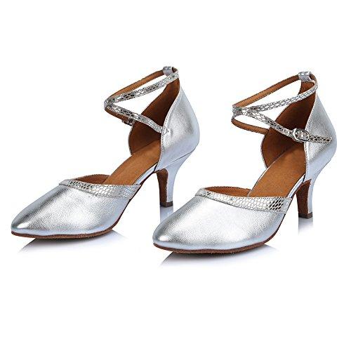Modell Ballsaal Damen DE Tanzschuhe PU Schuhe Silber 314 Latin Dance SWDZM Standard fUq8wFq