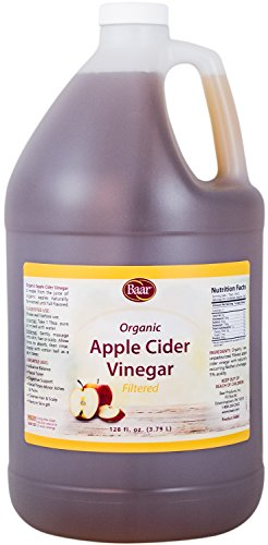 Baar Organic, Raw, Unpasteurized, Filtered Apple Cider Vinegar with Mother, 1 Gallon