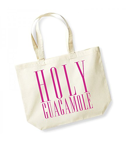 Print Canvas Guacamole fuschia Bag Unisex Slogan Natural Cotton Kelham Tote Holy qIxnTfdqwp
