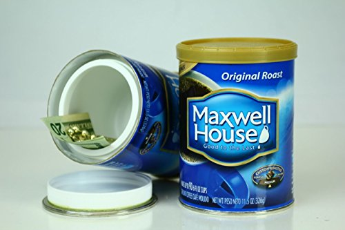 MAXWELL HOUSE COFFEE diversion can safe stash hidden safes hide cash jewelry money coins