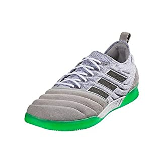adidas Men's Copa 19.1 in Soccer Shoes (Solid Grey/Core Black/Solar Lime)
