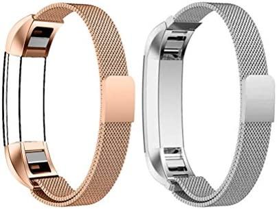 Small Size 4.7-7.0 for Kids Women Replacement Strap for Kids Fitbit Colorful+Rose Gold Stainless Steel Fitness Tracker Bands for Fitbit Alra//Alta HR//Ace Fitbit Ace Band