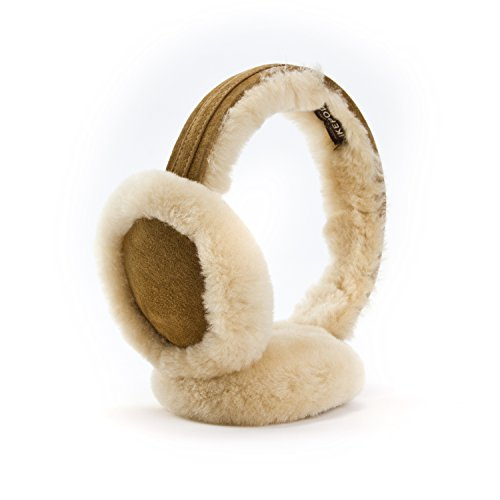 Classic Australian sheepskin Earmuff Ear Warmer - Unisex Warm Thermal Earwarmer