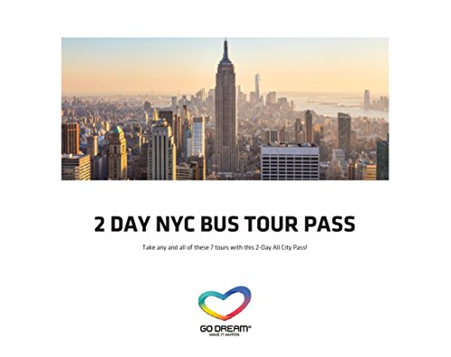 2 Days New York Bus Tour Pass Experience Gift Card NYC - GO DREAM - Sent in a Gift - Nyc Store Soho