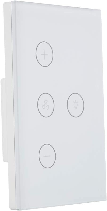 DHOUSE Smart Light Switch,WiFi Fan Celling Switch APP Remote Timer and Speed Control Compatible with Amazon Alexa,Ehco and Google Home,FCC Certification,No Hub Required,Easy and Safe installation