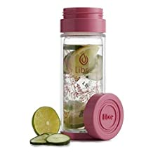 Libre Tea Infuser Thermal Double Walled Glass and Polycarbonate Water Bottle with Stainless Steel Tea Filter
