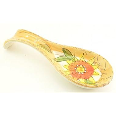 Sunflower Pattern Spoon Rest Floral Kitchen Decor