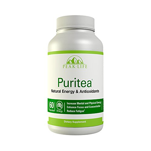 Peak Life Puritea, Premium Tea Blend for Natural Energy & Antioxidant, 60 Count