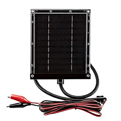 ZEALLIFE 6V 1w Solar Panel to Recharge Deer Feeder Battery Waterproof Outdoor Solar Charger with Mounting Bracket