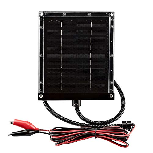 ZEALLIFE 6V 1w Solar Panel to Recharge Deer Feeder Battery Waterproof Outdoor Solar Charger with Mounting Bracket (6v Deer Feeder Solar Panel 1W) ()