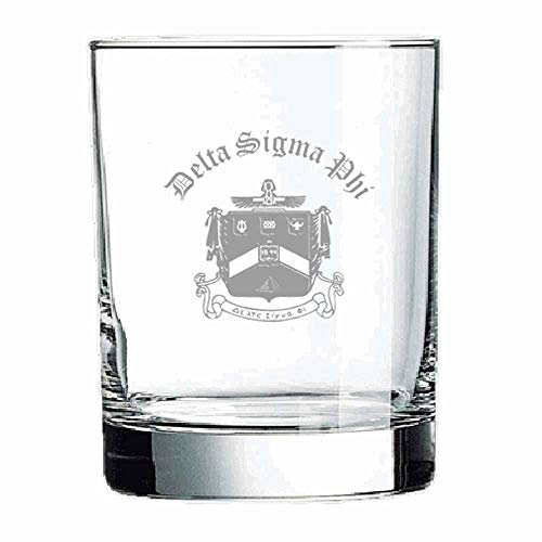 (Greekgear Delta Sigma Phi Old Style Glass Transparent)