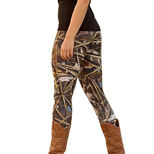 Gillberry Fashion Women Skinny Printed Stretchy Pants Leggings Christmas Clothes (L, Black B)