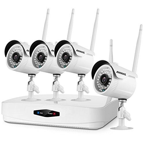 ANNKE 1080P Wireless Security Camera System 4CH Wireless WIF