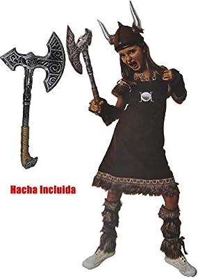 Gojoy shop- Disfraz de Vikinga para Niñas Carnaval (Contiene ...