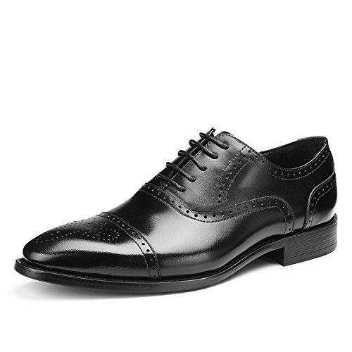 NBWE Scarpe da Uomo Primavera e Autunno Fashion Business Scarpe Primavera in Pelle Black