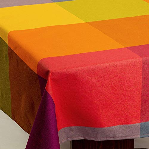 "Amelie Michel Wipe-Clean Tablecloth in ""Durero Multi-Color"" 