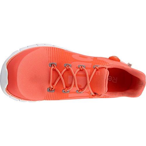 white Reebok Zpump Running tangerine Coral Scarpa Da Fusion Svz0nq4S