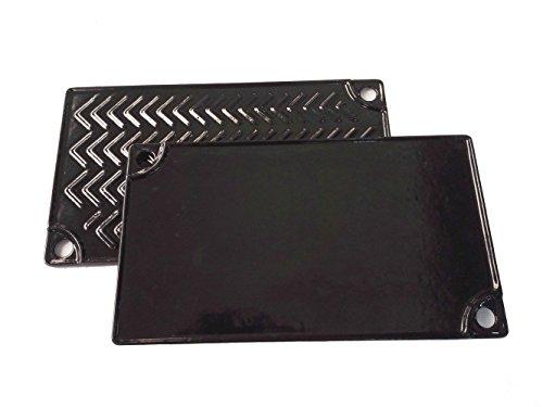 Grill Valueparts REV032RGC Porcelain Enamel Cast Iron Reversible Grill/Griddle, 9 1/2