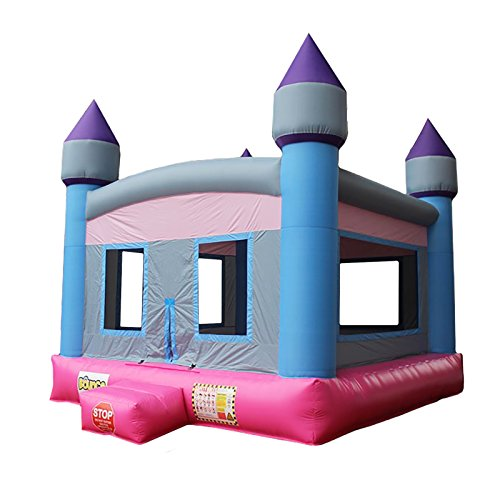 Commercial Bargains Bounce Zone Girl Castle Inflatable Bounce House Princess Theme Bouncy Jump Moonwalk